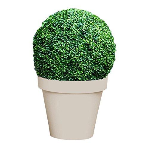 Mojawo® Bola de boj artificial Planta Artificial libro bola Hierba bola de boj plástico Planta Interior Exterior decorativo, diámetro de 25cm