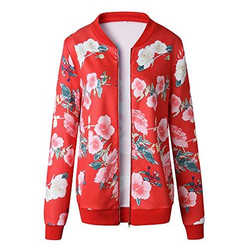 TOPKEAL Dick Jacke Warm Reißverschluss Oben Mantel Damen Herbst Winter Sweatshirt Hoodie Beiläufig Pullover Outwear Coats Mode Tops (Medium,Rot)