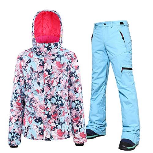 Sneeuwmantel voor dames, kostuum, bedrukt, ski, kleurrijk, wintersport, winddicht, buitenjas, waterdicht, sneeuw/broek, set, ski-onesie voor snowboard, bergbeklimmen