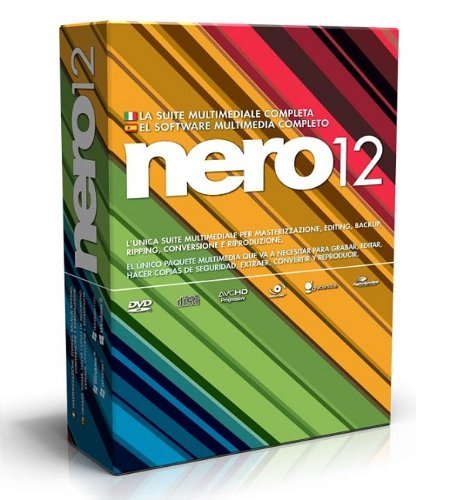 Nero 12, Win, Box, ITA - Software de grabación (Win, Box, ITA, 1024 MB, 5000 MB, Windows XP SP3 (32-bit) Windows Vista SP2+ (32/64-bit) Windows 7 SP1 Home Premium (32/64-bit))