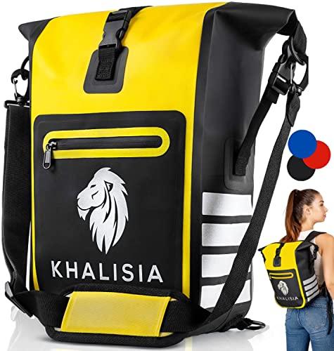 KHALISIA - 3in1 Fahrradtasche - wasserdichte Gepäckträgertasche - Fahrradrucksack mit Reflektoren - Nachhaltig