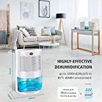 Gocheer upgraded dehumidifier for home,up to 480 sq. Ft dehumidifiers for high humidity in basements bedroom closet… 10 high effectively dehumidifier:comes with a 2000ml(68oz) water tank which can quickly and effectively remove up to 1000ml(34oz,temperature: 86 °f humidity: 80% rh) of moisture from the air per day. Keep your home comfortable and healthier all the time. Application area:up to 480 sq. Ft,this household portable small dehumidifier is widely used in all kinds of scenes such as your home,bathroom,living room,bedroom,closet,kitchen,which can efficiently meet your daily needs for removing moisture. Upgraded energy saving:compared with bulky compressor dehumidifiers,our compact home dehumidifier equips with semiconductor condensation technology which can ensure maximum water extraction with minimum power use.