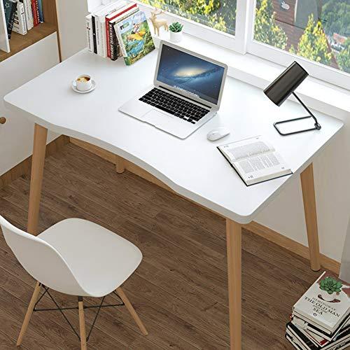 WAYERTY Ergonomia Mesas para Ordenador Estacion Mesas,Comedor Mesas Decorativos Casa Oficina Mueble Trabajo Mesas Multiproposito PC Mesa Blanco 100x60x73cm(39x24x29inch)