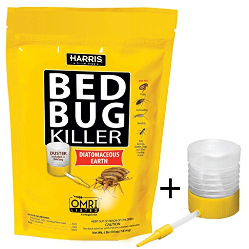 HARRIS Bed Bug Killer, Diatomaceous Earth (4lb with Duster)
