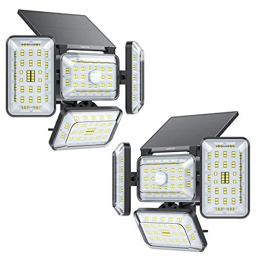 Solar Lights Outdoor, UDIYO 242 LED Solar...