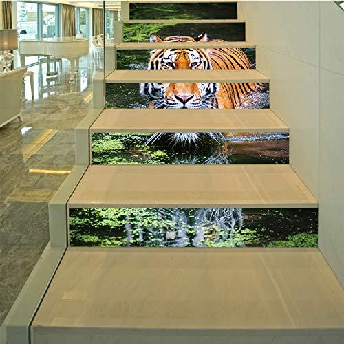 SQINAA Pegatinas 3D para escaleras, Autoadhesivas, extraíbles, Impermeables, para baldosas de escaleras, Adhesivos para baldosas Verticales para decoración de Sala de Estar (7.08 x 39.3 Pulgadas),A