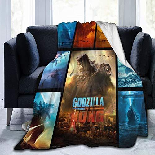WPORF Godzilla vs King Kong Super Soft Micro-Blanket Skin-Friendly Flannel Blanket Four Seasons Lightweight Blanket. Godzilla-50 x40