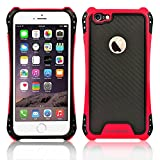 iPhone 6s Case, iPhone 6 Case,Kuteck Carbon Fibre Series - [Shockproof][Drop Protection] Hybrid