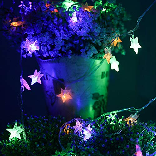 KIMAIRY LED Fairy Twinkly Star String Lights, USB Plug in 34 Ft 100LED Wedding Decorations Christmas Tree Unicorn Plants Gold Stary Light(Battery not Included)(Colour Lights )