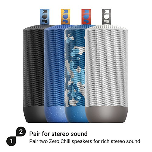 Jam Zero Chill Pairable Bluetooth Speaker, 30 Metre Range, Waterproof, 22 Hour Playtime, Dust Proof, Drop Proof IP67 Rating, Built In Speakerphone, Aux In Port, USB Charging - Blue