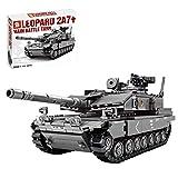 ColiCor Tanques Militares Modelo de Bloques de Construcción, 898pcs WW2 German Leopard 2A 7 Tanque Modelo, Compatible con Lego