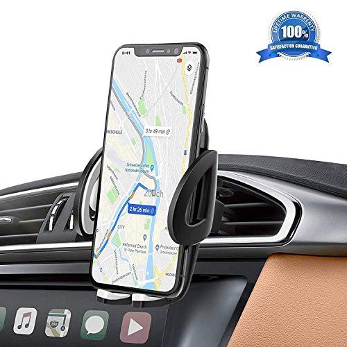 IZUKU Soporte Movil Coche Ventilación Universal 360 Grados Rotación Porta Movil Coche para Rejillas del Aire de Coche para iPhone x/8/7/6 Plus/6s/6/5s/SE, Android Smartphone y GPS Dispositivo