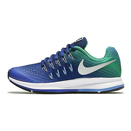 Nike nike zoom pegasus 33 (gs) - paramount blue/metallic silver, Größe #:5Y