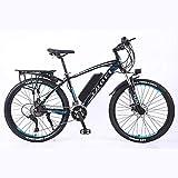 BWJL Aleación de Aluminio de Bicicleta de montaña Bicicleta eléctrica de Litio-accionado Mediante Ebikes de montaña, batería extraíble 26 350W 36V 13Ah Ebike de Litio Hombre de la montaña,AZ.
