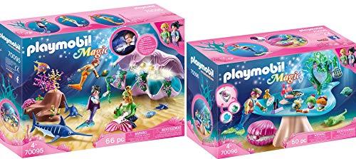 PLAYMOBIL® Magic 2er Set 70095 70096 Nachtlicht Perlenmuschel + Beautysalon mit Perlenschatulle