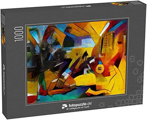 fotopuzzle.de Puzzle 1000 Teile Alternative Reproduktionen berühmter Gemälde von Picasso Angewandter Abstrakter Stil von Kandinsky