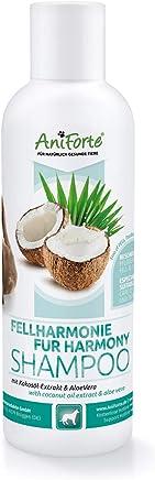 AniForte Fellharmonie Shampoo mit Kokosöl-Extrakt & Aloe Vera 200ml Hundeshampoo Kokos-Shampoo – Naturprodukt für Hunde