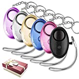MR. LD Siren Song Personal Alarm 140db for Women Kids Elderly and Girls, Safe Defense Personal Emergency Alarm Keychain with led Light, Protection Form Assault and Rape -Pack of 6