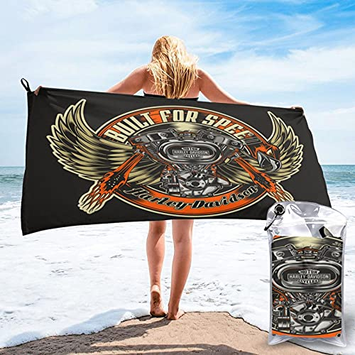 Large Puzzle Harley Davidson 100% algodón Toallas 70 x 140 cm de grosor, suave y absorbente, toalla de mano toalla de baño
