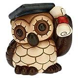 THUN - Bomboniera Laurea Gufo con Cappello di Laurea - Bomboniere Cerimonia - Formato Piccolo - Ceramica - 6,1 x 5,4 x 6,2 h cm