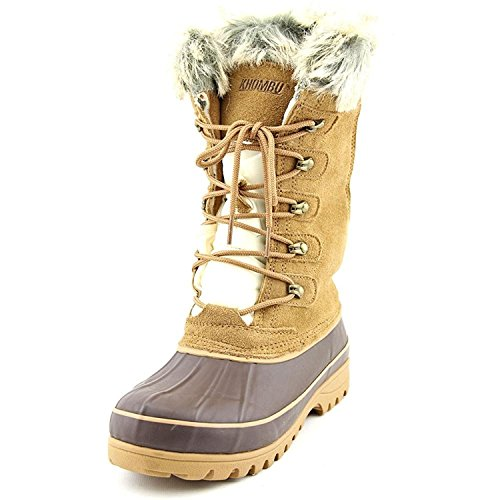 Khombu Women's Waterpoof Winter Boots Nordic 2, Tan 10 M