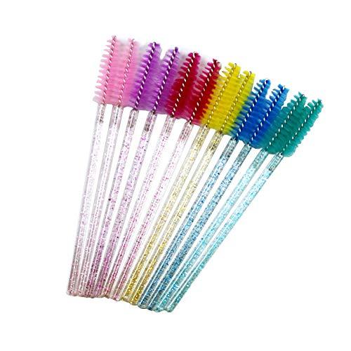 SNOWINSPRING 300 Pack de Pinceaux de à Cils Jetables Multicolores Baguettes Kits de Pinceau de Maquillage Applicateur, Couleur AléAtoire