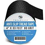 Anti Slip Grip Traction Tape by TreadSafe - 4 Inch x 33 Foot -...
