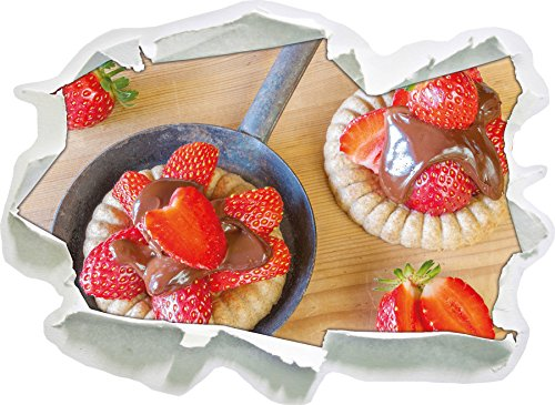 Doux Shortcake aux Fraises, Papier 3D de Taille de Sticker Mural: 92x67 cm décoration Murale 3D Stickers muraux Stickers