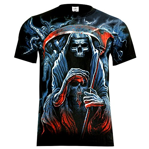 T-Shirt Rock Chang Rock Eagle Heavy Metal Biker Tattoo Rocker Gothic (4007) (XL)