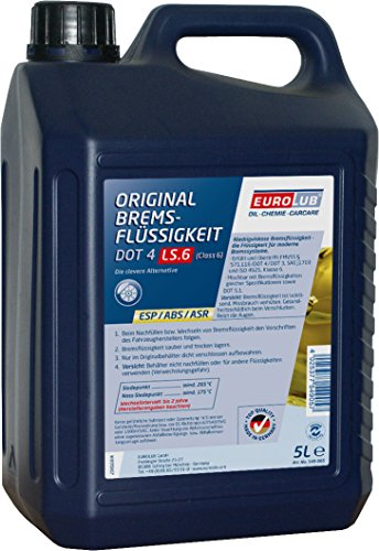 EUROLUB Bremsflüssigkeit DOT4 LS.6 (Class6), 5 Liter