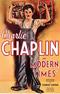 Pop Culture Graphics Modern Times Poster Movie B 11x17 Charlie Chaplin Paulette Goddard Henry Bergman Stanley Sandford