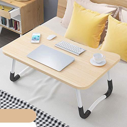 WENYAO Laptop Tisch Bett Schreibtisch Faltbarer Studiertisch Kinder Esstisch Studentenschlafsaal Kleiner Tisch Spieltisch (Farbe: Natürlich)