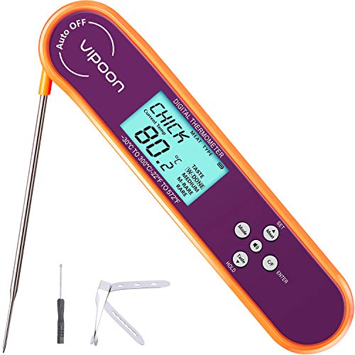 Termómetro digital para carne de Befano de lectura instantánea, ultra rápido termopar para asar