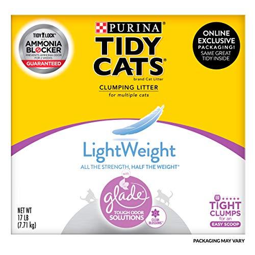 Purina Tidy Cats Light Weight Low Dust Clumping Cat Litter LightWeight Glade Clean Blossoms Multi Cat Litter  17 lb Box