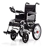 FTFTO Home Accessories Elderly Disabled Electric Powered Wheelchair Folding Lightweight 34Kg Strong and Durable for The Use Motorized Wheelchairs Convenient for Home and Outdoor Use Black