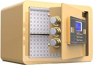 HTTBXG Safes Reinforce Electronic Password Safe Deposit Box, Small Invisible Office Safes Anti-Theft Fingerprint Alarm All...
