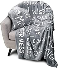 Blankiegram Mother Throw Blanket for Loving, Kind & Inspiring Moms | The Perfect Caring Gift (Grey)