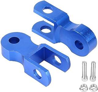 Amortiguadores para chasis de moto Qiilu Suspensión De Altura Amortiguador para chasis de moto 5 cm 1 Par con tornillo azul