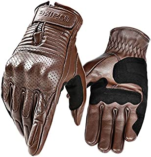 Inbike motorcycle gloves, high quality leather protective gloves made of 100% goatskin professional motorcycle gloves with hard protective case, professional motorcycle protective gloves