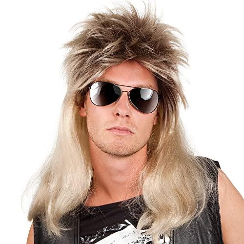 Boland Ryan 86060– Perruque Vokuhila (Avant Court et arrière Long) de Style Pop/Rock pour Adulte Couleur des Cheveux blonds/Marron