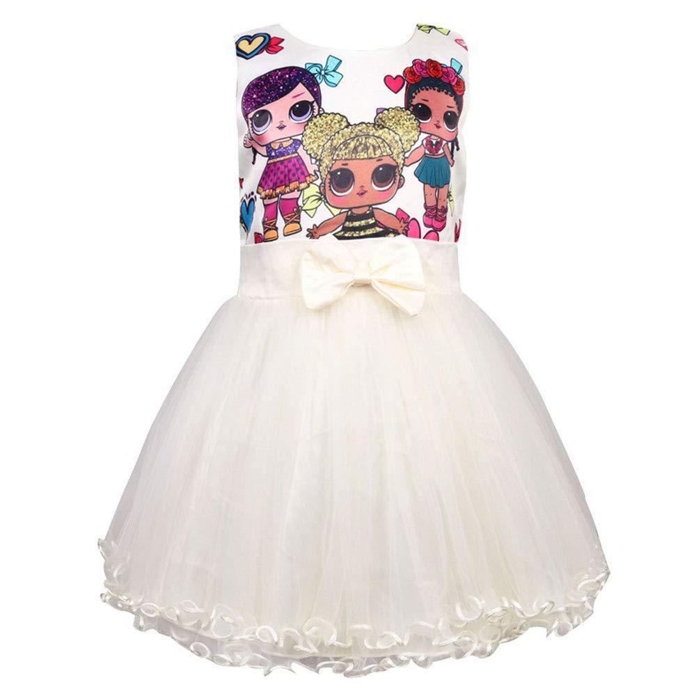 QYS Vestido de Las Muchachas LOL Falda Tutu Niño Ropa para niños ...