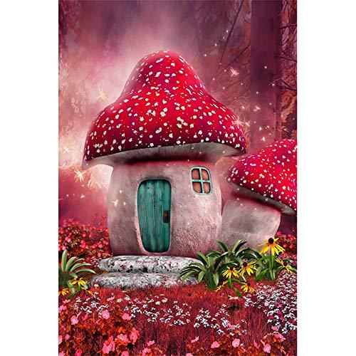 JW-MZPT Puzzle di Legno, 500/1000/1500/2000/3000/4000/5000/6000 Pezzi di Giocattoli educativi del Fumetto del Anime Fungo Rosso in Camera,1000pieces