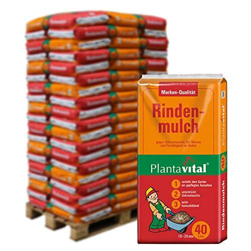 Plantavital Rindenmulch fein, 2280 l gesamt, 57 Sack á 40 l, Palettenware ohne zusätzliche Versandko