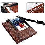 Professional Paper Trimmers, 15 Inch Cut Length Paper Cutter Desk Tops Photo Guillotine Craft Machine for Standard Cutting of Paper, Christmas Card, Photos or Labels, 12 Sheet Capacity