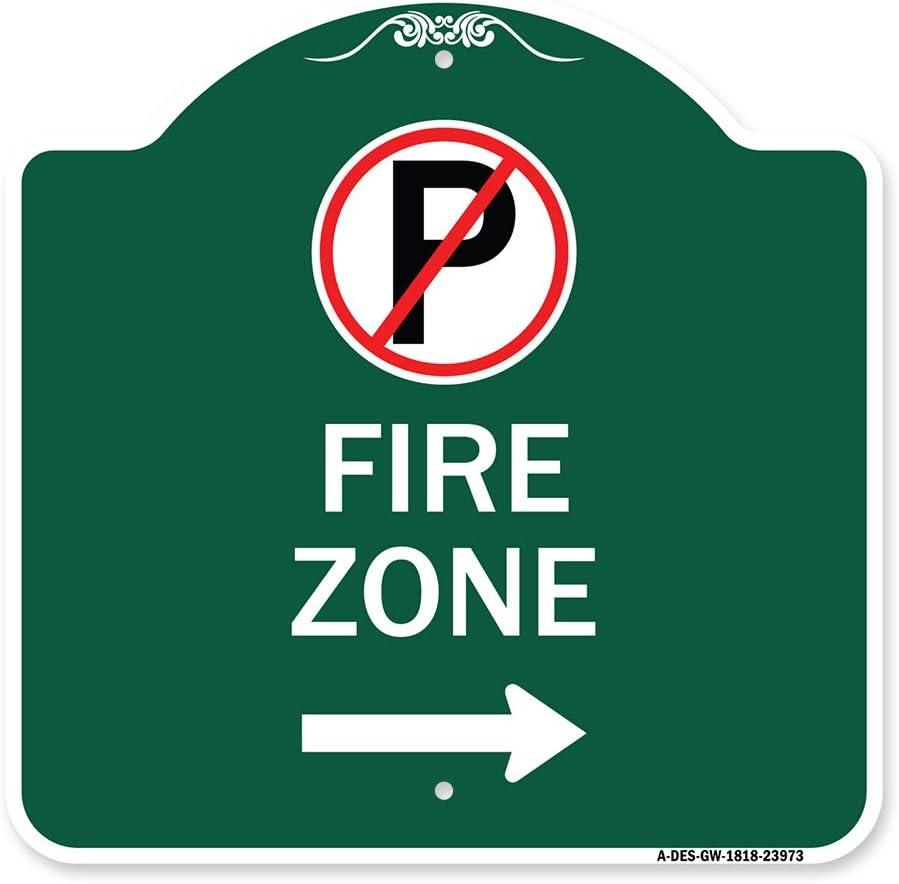 SignMission Designer Series Sign Bargain sale - Zone Parking Symbol No Fire Brand new