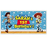 Toy Story Woody and Jessie Personalized Birthday Banner