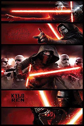 empireposter - Star Wars - EP7 Kylo Ren Panels - Größe (cm), ca. 61x91,5 - Poster, NEU -