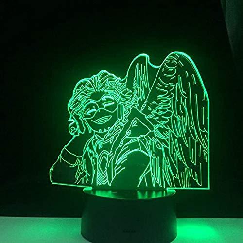 Hermoso regalo Hawks KEIGO TAKAMI LED anime 3D lámpara decoración de habitación luz nocturna Control remoto ColorsTable KATA (Control táctil)
