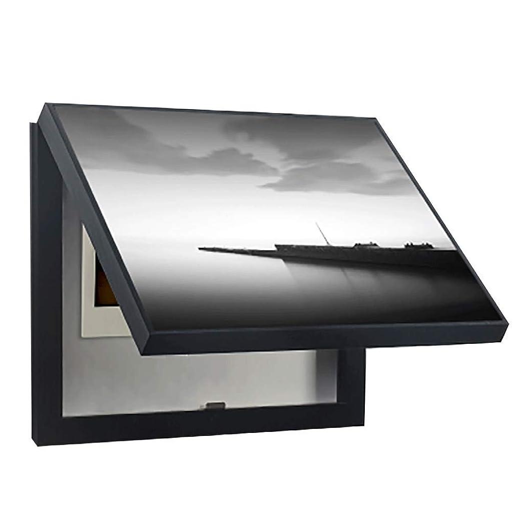 強化する見物人ケージQIQIDEDIAN 配電ボックス装飾塗装プッシュプルメーターボックス垂直セクションモダンシンプルメーターボックスカバーボックス (Color : White, Size : (60*50cm 50*40cm)-Flip cover)