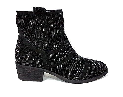 alma en pena, Damen Stiefel & Stiefeletten schwarz schwarz, schwarz - schwarz - Größe: 37